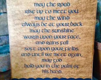 18x24 Irish Blessing