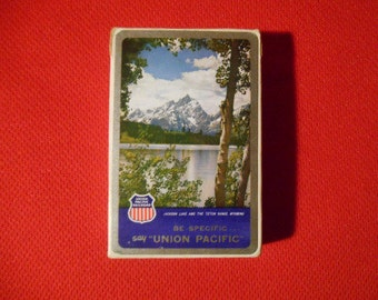 One (1), Vintage, Union Pacific Railroad, Deck of Playing Cards.
