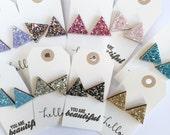 Glittery Triangle Earrings