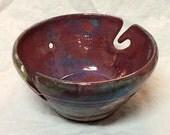 Raku Yarn Bowl- Stone Penguin Pottery
