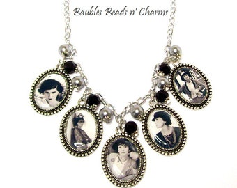 Coco Chanel Necklace, Coco Chanel Picture Charm Necklace, Coco Chanel Photo Charm Necklace, Coco Chanel Jewelry