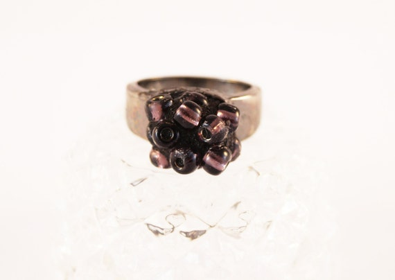 Blackberry Cluster Ring from Pieces of Home Mosaics