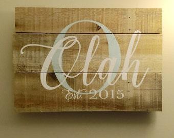 Last Name/Family Established Sign