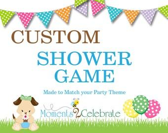 Custom Baby Shower Game, Custom Bridal Shower Game