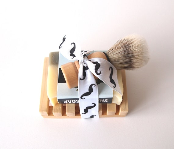 shaving kit all natural mens shaving set groomsmen gift. Black Bedroom Furniture Sets. Home Design Ideas