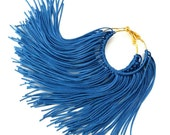 Cobalt Fringe Hoops