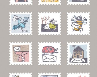 postcard postage stamps / postcrossing card
