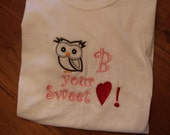 Owl B your Sweet Heart Tee Shirt