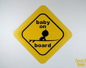 Baby on (Surf) Board Card