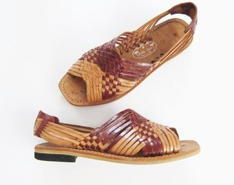 Huarache Sandals / Huaraches / Womens Mexican Sandals / Brown Leather Gladiator Sandals