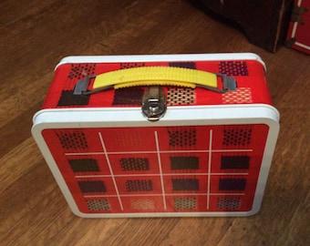 Vintage Ohio Arts Lunchbox / Vintage Plaid Lunchbox