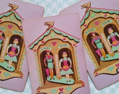 4 Adorable Vintage Kitsch Playing Cards | Pink | Toys, Dolls