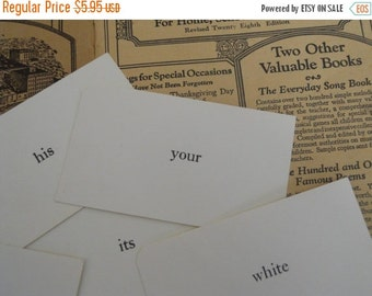 HUGE SALE 20 Vintage Word Flash Cards Classic Basic Sight Words Vocabulary Flash Cards