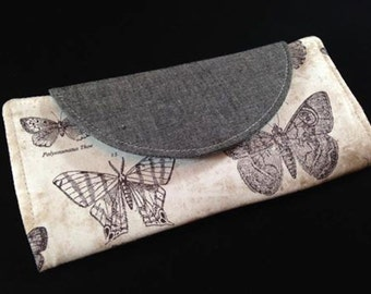 Handmade woman's butterfly wallet (SALE)
