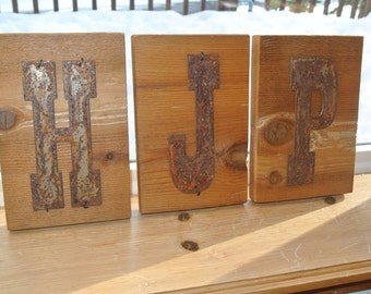 "Western 5"" x 7"" Reclaimed Wood Initials"