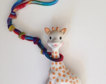 Tie Dyed Toy Leash, Tether, Harness