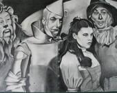 Wizard of Oz Original Graphite Pencil Drawing