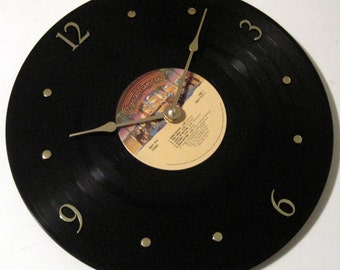 KISS record clock - Dressed to Kill - Upcycled - Vinyl LP