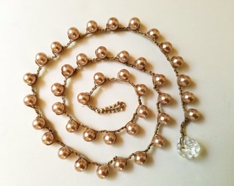 Pearl Crochet Necklace  by Endora's Box