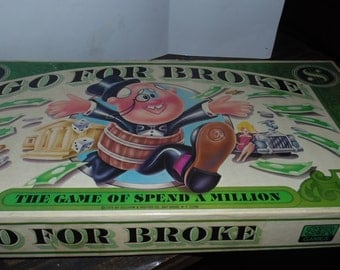 Vintage 1977 Go for Broke Selchow & Righter Co. Board Game Spend a Million Complete