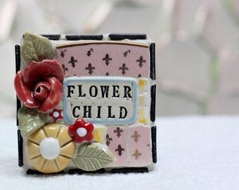 FLOWER CHILD, mosaic art