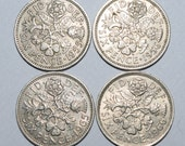 50th 60th 49th 59th Birthdays. Genuine British Sixpence Coin.  1955, 1965, 1966, 1956. Birthday Gift / Coin for Special Year.