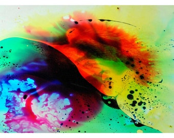 P91 - Psychedelic Postcards - Abstract Liquid Lights OIl & Colored Water Stationery