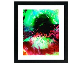 60's Hippe Trippy Psychedelic Liquid Light Show Print ~ Oil & Water LiquidLights Art Prints ~ Liquid dot Lighting ~ Free Shipping
