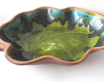 Santa Anita Ware blue green glazed california pottery, ConMisManosVintage