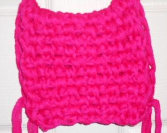 Very Pink Crochet Crossbody Bag