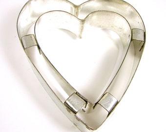 Double Heart Cutter, Cookie Cutter, Cooking Utensils, Metal Cutter, Kitchen Cutter, Food Design