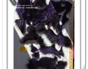 SC-617 Craft Supply Genuine Purple Violet Raccoon Fur Pelt Remnants Face