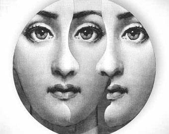 Three, Lina Cavalieri melamine plate