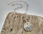 Fine Silver Labradorite Sterling and Tourmaline Necklace