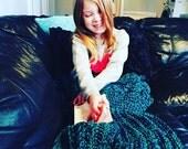 Toddler or Child size Crochet mermaid blanket