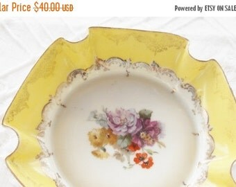 On Sale Gorgeous Antique Austrian Fluted Candy Dish, French Shabby Chic, Cottage Style, RMS