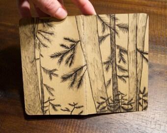 tree mini note/sketchbook