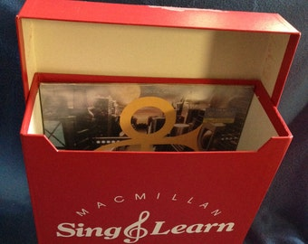 "RARE, Vintage 70's Macmillan Sing & Learn 12"" Vinyl LP, Record Album, Carrying Case, Tote Box"