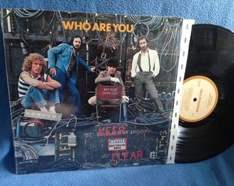 """Vintage, The Who - """"Who Are You"""" Original 1978 Press, Vinyl LP, Record Album, Keith Moon, Pete Townshend, New Song, Sister Disco"""