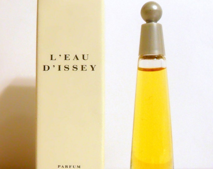 Vintage 1990s L'Eau d'Issey by Issey Miyake 0.10 oz Parfum Miniature Mini Bottle with Box PERFUME