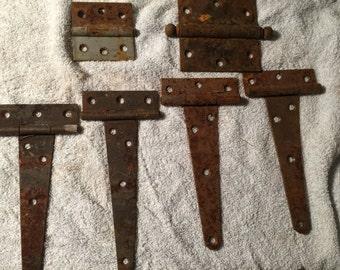 Vintage Metal Door Hardware -- Salvage Hinges