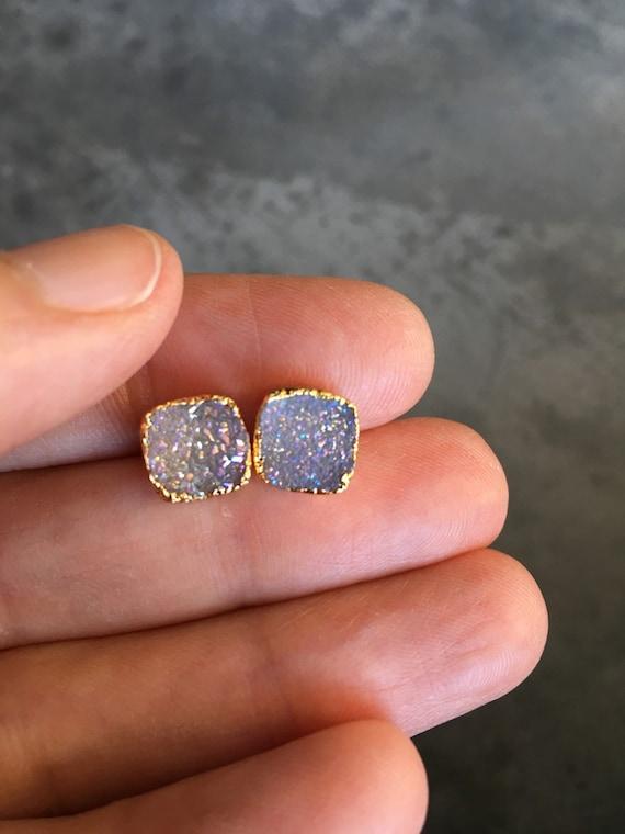 Druzy Earrings, Druzy Jewelry, wedding jewelry