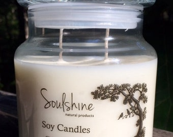 Apothecary Jar Double Wick Soy Candle - 16oz Choose Your Scent