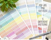 40% OFF VALUE PACK Planner Headers Printable Stickers - Erin Condren Planner Sticker - Happy Planner Sticker - Glitter Stripes Dots Chevron