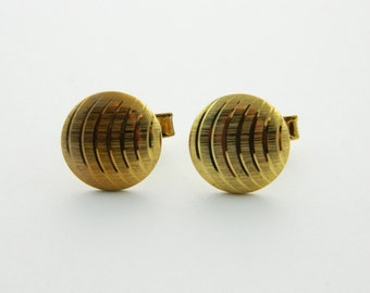 Gold Featherweight Cuff Links - CL011