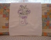 Larkspur in a Mason Jar  Flour Sack Dish Towel