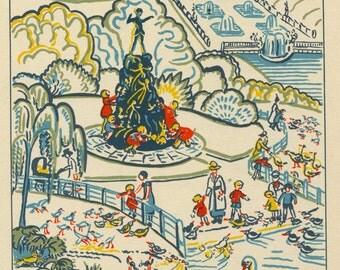 Quality Giclée Print of Kensington Gardens London Mounted or Framed