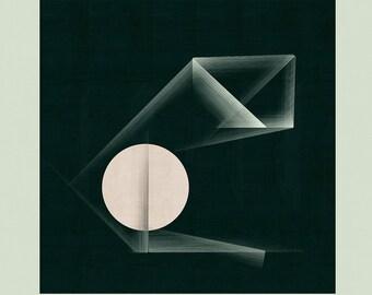 Architectural Art, Modern Art, Mid Century Wall Art, Geometric Wall Art, Abstract Wall Art - Limited Edition (20)