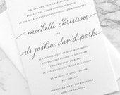 FLAT SAMPLE |  Custom Calligraphy | Calligraphy Wedding Invitation | Simple Invitation | Traditional Invitation | Hand Drawn Calligraphy