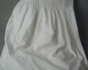 Vintage White Bed Skirt or Bed Petticoat, Cal. King Size, Gathered Flounce, Cotton Fabric, Excellent Quality